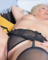 Naughty housewife Debbie loves playing with herself